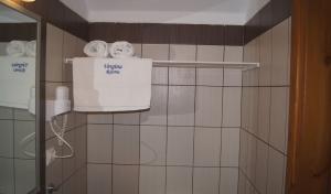 Bathroom with hair dryer